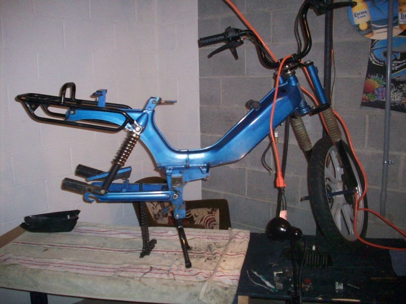 1995 Tomos LX on workbench