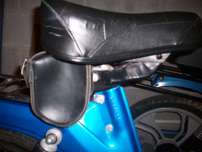 Under-seat bag on Puch Maxi