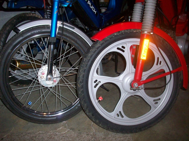 Front Tire of 2006 Tomos ST and 1980 Puch Maxi